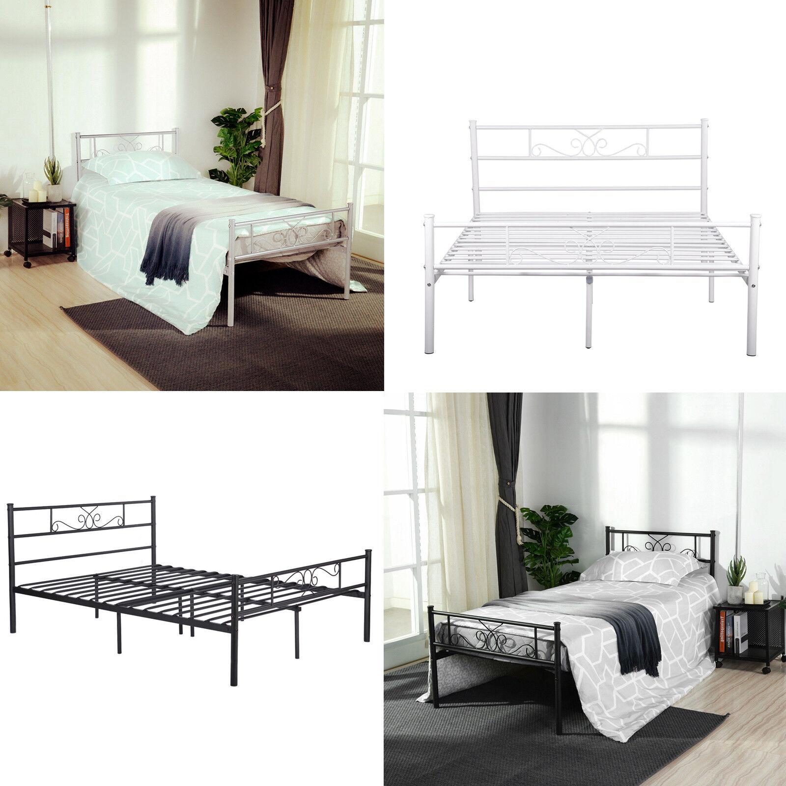 Twin Full Queen Size Metal Bed Frame Platform Bedroom Mattre