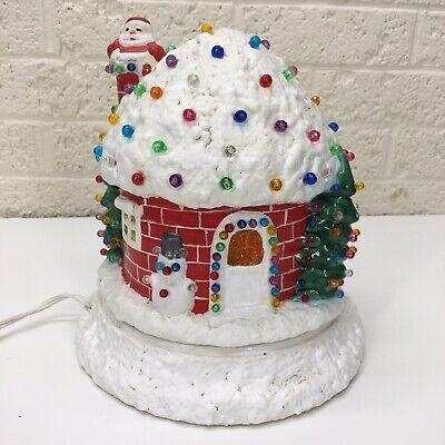 VTG‼ Light Up Ceramic Christmas Village House Santa Snowman Handmade Johnny Sens