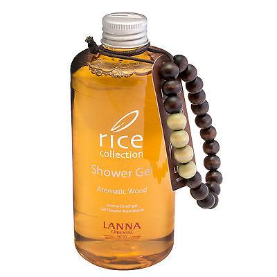 (39,97 € / L) LANNA ORIENTAL SPA 300ml Rice Aromatic Wood Shower Gel Duschgel