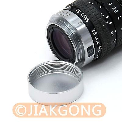 как выглядит Крышка для объектива 2pcs Silver Metal C mount Screw in Rear Lens Cover Cap CC TV фото