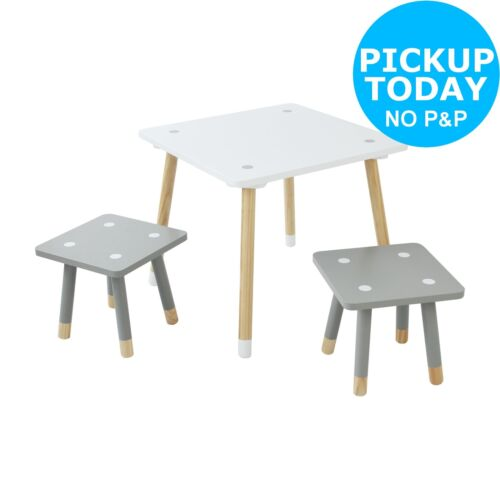 Argos Home Kids Scandinavia Solid Wood Table And 2 Chairs