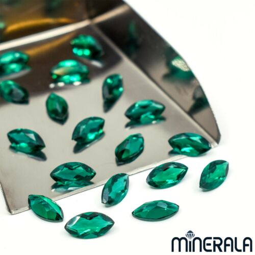 LAB GROWN ZAMBIA EMERALDS MARQUISE FACETED LOOSE GEMSTONE VARIOUS SIZES WP02782