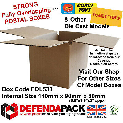 30 STRONG Cardboard POSTAL MAILING BOXES CORGI DINKY MODEL Cars 5.5
