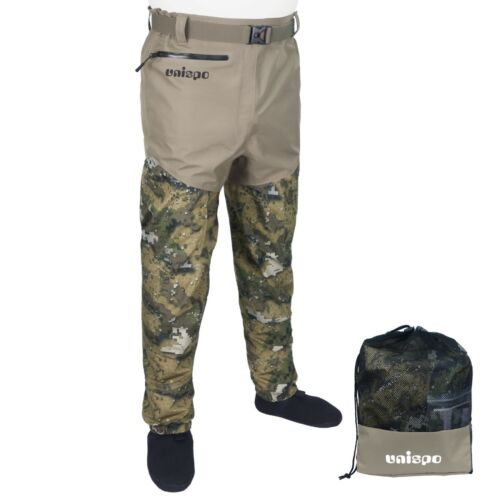 Waist Wading Pants, Breathable Waterproof Fishing Waders with Pocket