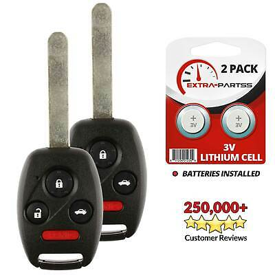 2 For 2003 2004 2005 2006 2007 Honda Accord Keyless Entry Car Key Fob Remote