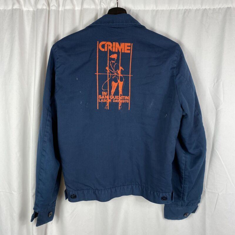 Vintage Original CRIME Punk Concert Jacket In San Quentin 1978