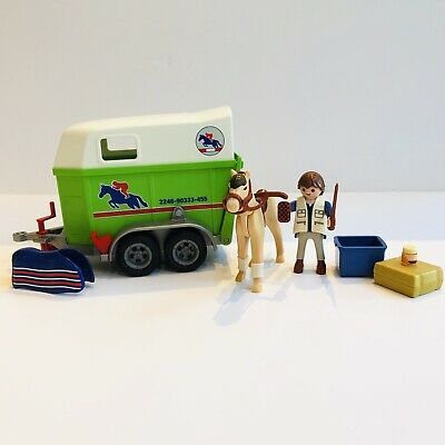 Playmobil 4189 Horse Trailer Box - With Horse, Rider & Accessories