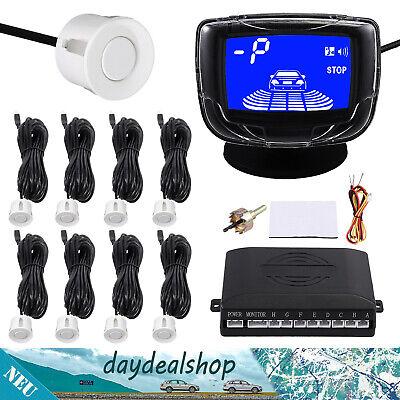 LCD 8 Parksensor PDC Einparkhilfe Rückfahrwarner Universal für vorne & hinten DE ()