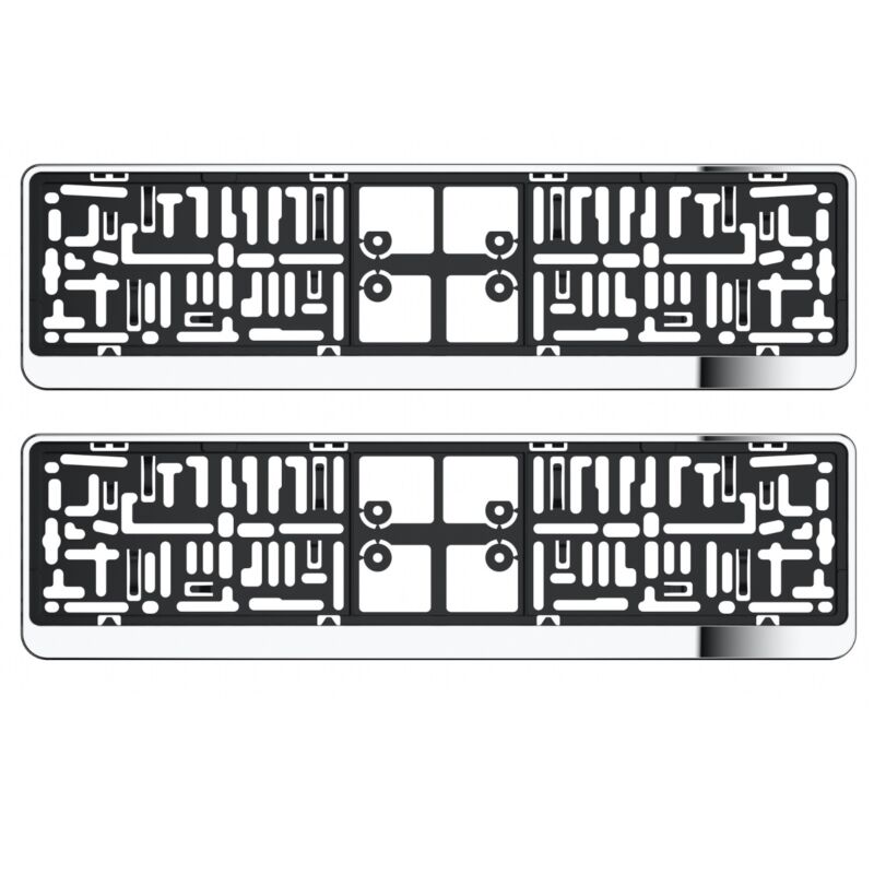 2X CHROME NUMBER PLATE HOLDER SURROUNDS FOR LEXUS GS300 GS400 LS400 IS350