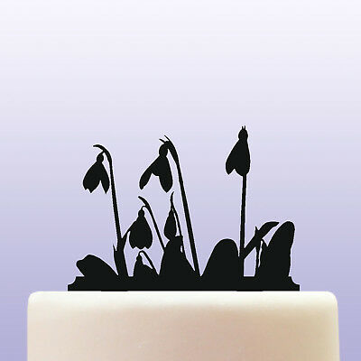 Acrylic Snowdrop Galanthus Flower Amaryllidaceae Family Plant Cake Topper for sale  Shipping to Ireland