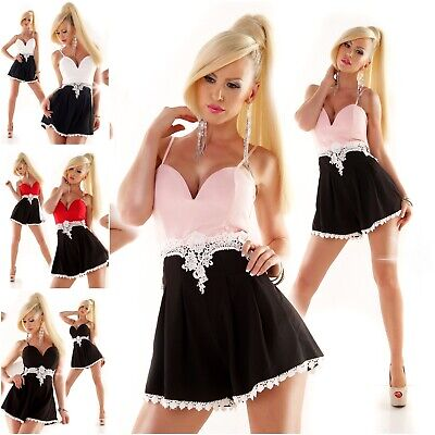 Sommer Overall kurz Jumpsuit Catsuit Mini Kleid Vintage Pin Up Hotpants 9002
