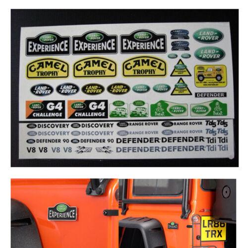1//10 RC Logo en métal Land Rover /& Defender stickers pour Traxxas TRX4 D90 D110