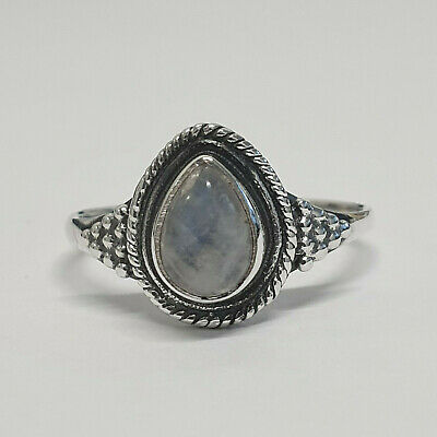 Handmade Ring with Moonstone Nickel-Free 925 Sterling Silver