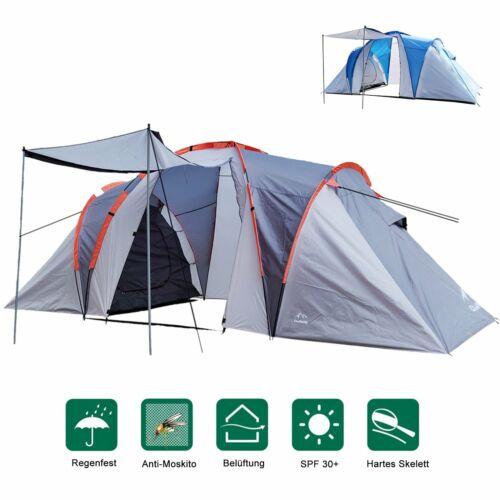 Zelt Familienzelt Kuppelzelt Igluzelt 4-6 Personen Campingzelt Outdoor 2 Kabinen