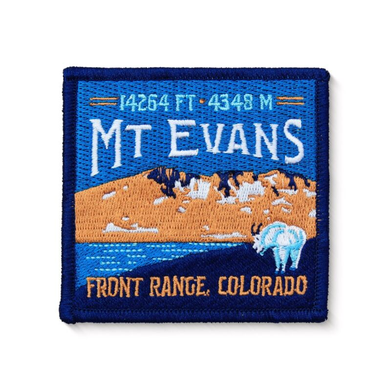 Mt. Evans Colorado 14er Embroidered Iron-On Patch