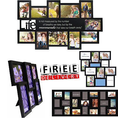 Photo Frame Set Format Lot Wall Art Home Decor Gift Float Picture Frames Collage (Collage Wall Art Set)