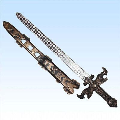 Edles verziertes Ritterschwert 52cm f. Kostüm Mittelalter Ritter Schwert - Alte Kunststoff Kostüm