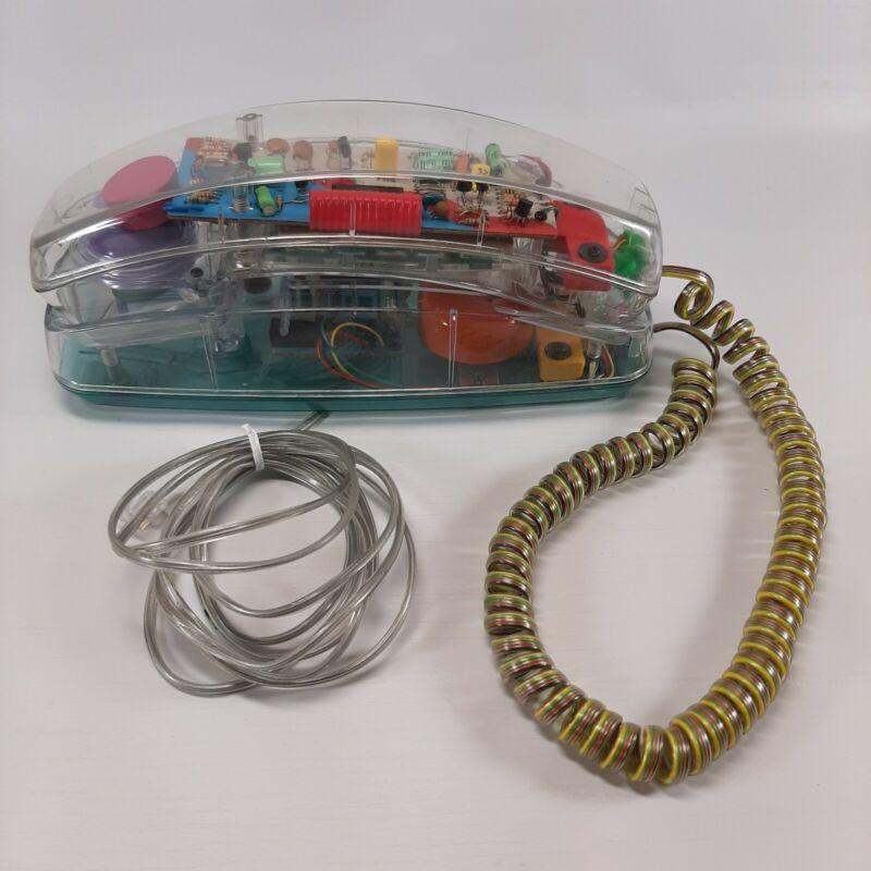 Vtg Unisonic Clear See Through Landline Phone Works