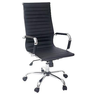 Bürostuhl Montreal, Chefsessel Drehstuhl, Kunstleder schwarz