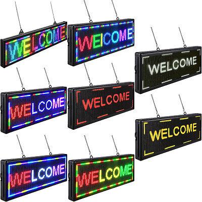 Vevor Led Scrolling Sign 40x15 P10 Programmable Full Color Sign Board W Sling