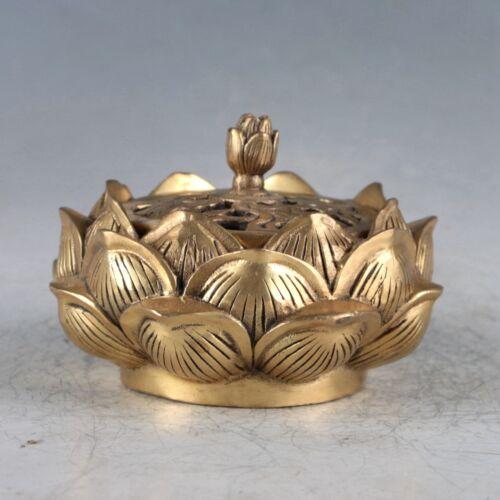 Chinese Rare Bronze Lotus Incense Burner Made During The Qianlong Period