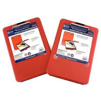 Saunders Slimmate Storage Clipboard Lot Of 2 - Red