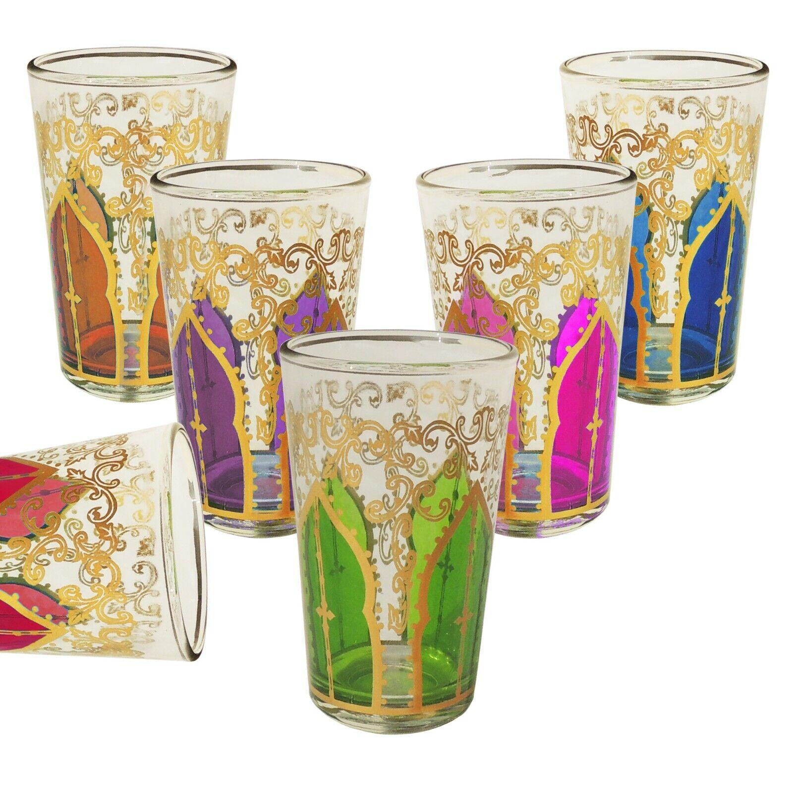6er Set marokkanische teegläser Mansour - Arabische Orientalische Gläser Orient
