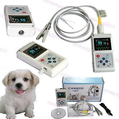 Us Seller Veterinary Pulse Oximeter Handheld Spo2 Pr Monitor Vet Tongue Probesw