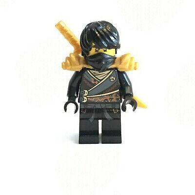 LEGO Ninjago Black Ninja Cole Rebooted Gold Sword Armor Minifigure 70723 BBP