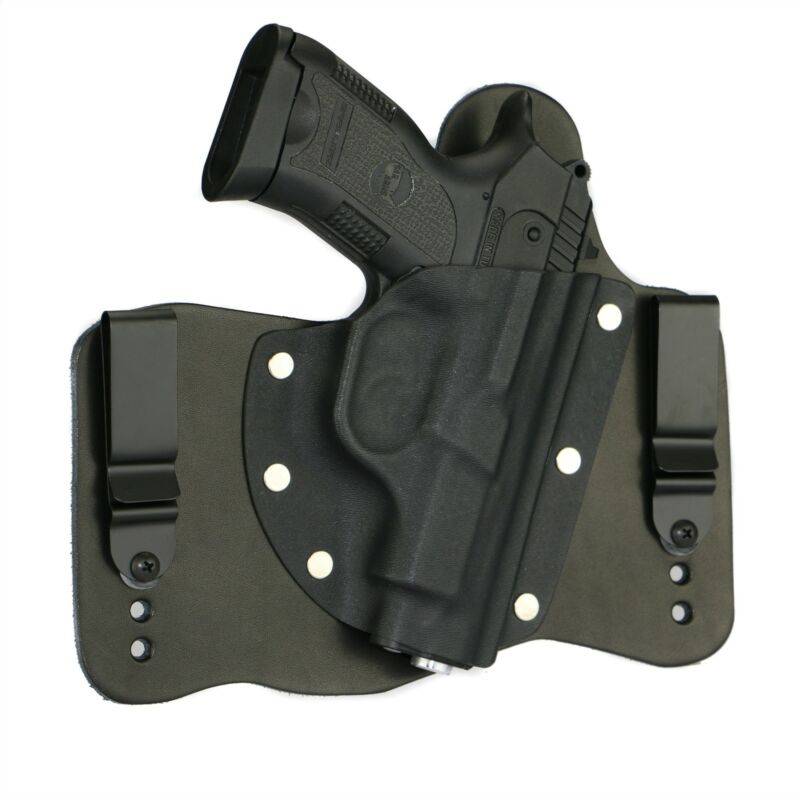 FoxX Leather & Kydex IWB Holster SAR B6P Hybrid Holster Black Right Tuckable
