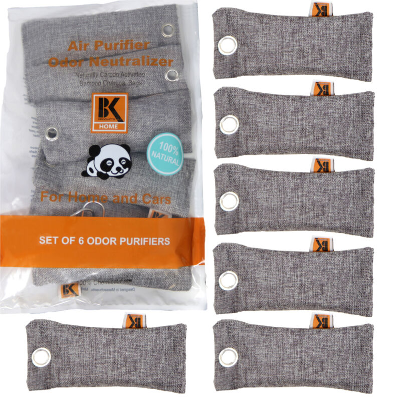 Bk Naturally Activated Bamboo Charcoal Air Purifier Bags