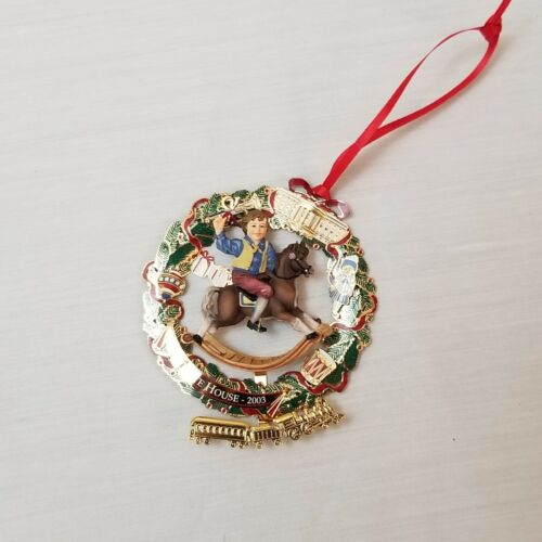 2003 The White House Historical Association Christmas Ornament w/ box & booklet