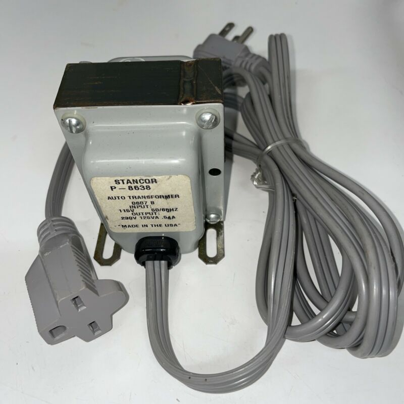 Stancor, P-8638 STEP UP TRANSFORMER 120V TO 240V Brand New
