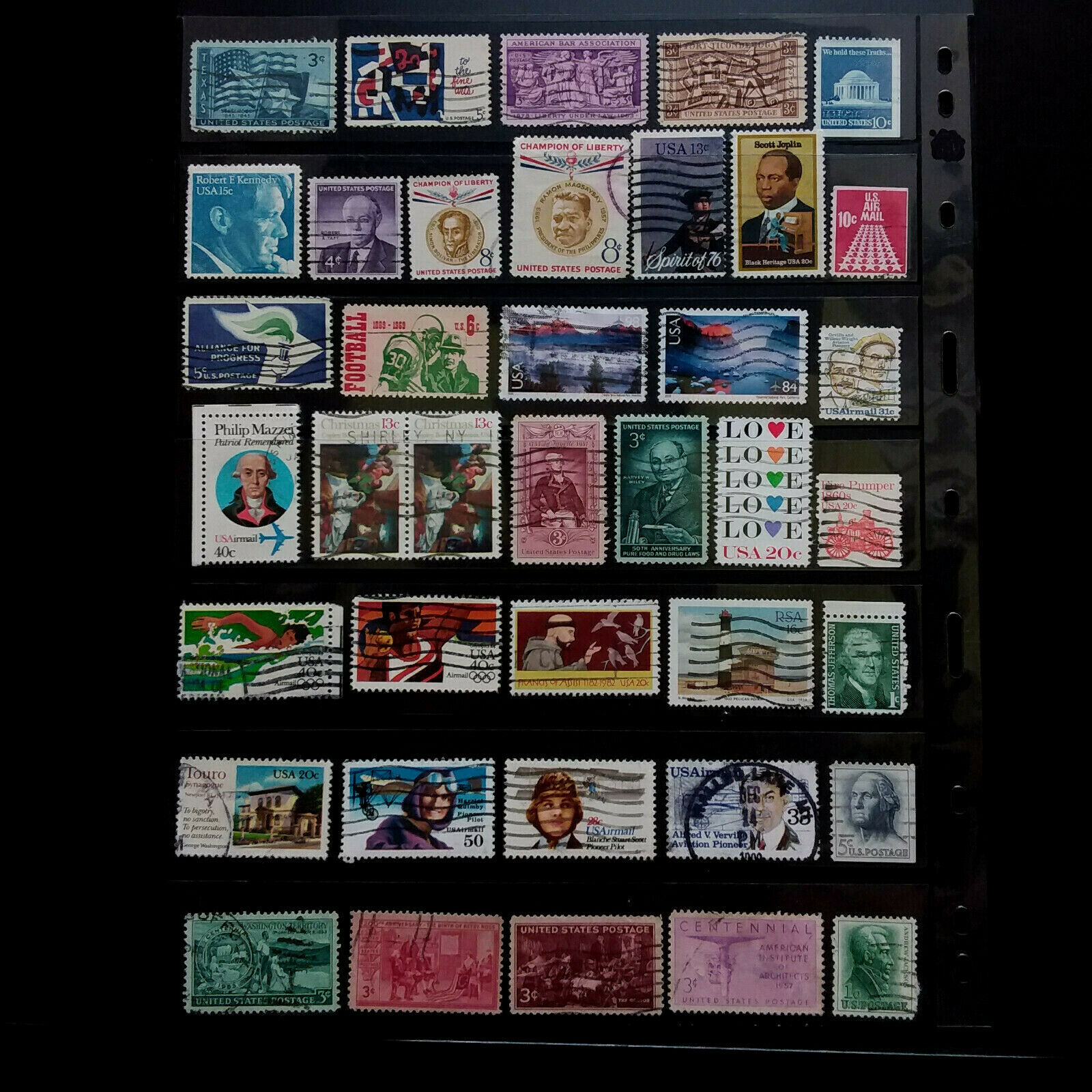 USA STAMPS (4)  Small Used Lot – Very Good  F034