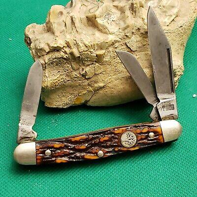 Old Vintage Boker Solingen Germany Tree Brand 8588 Stockman Pocket Knife Knives