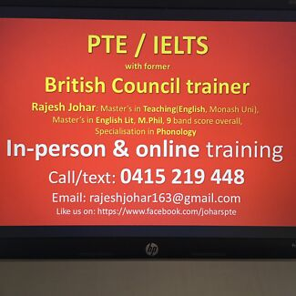 2-week/unlimited PTE/IELTS with British Council trainer (free trial)