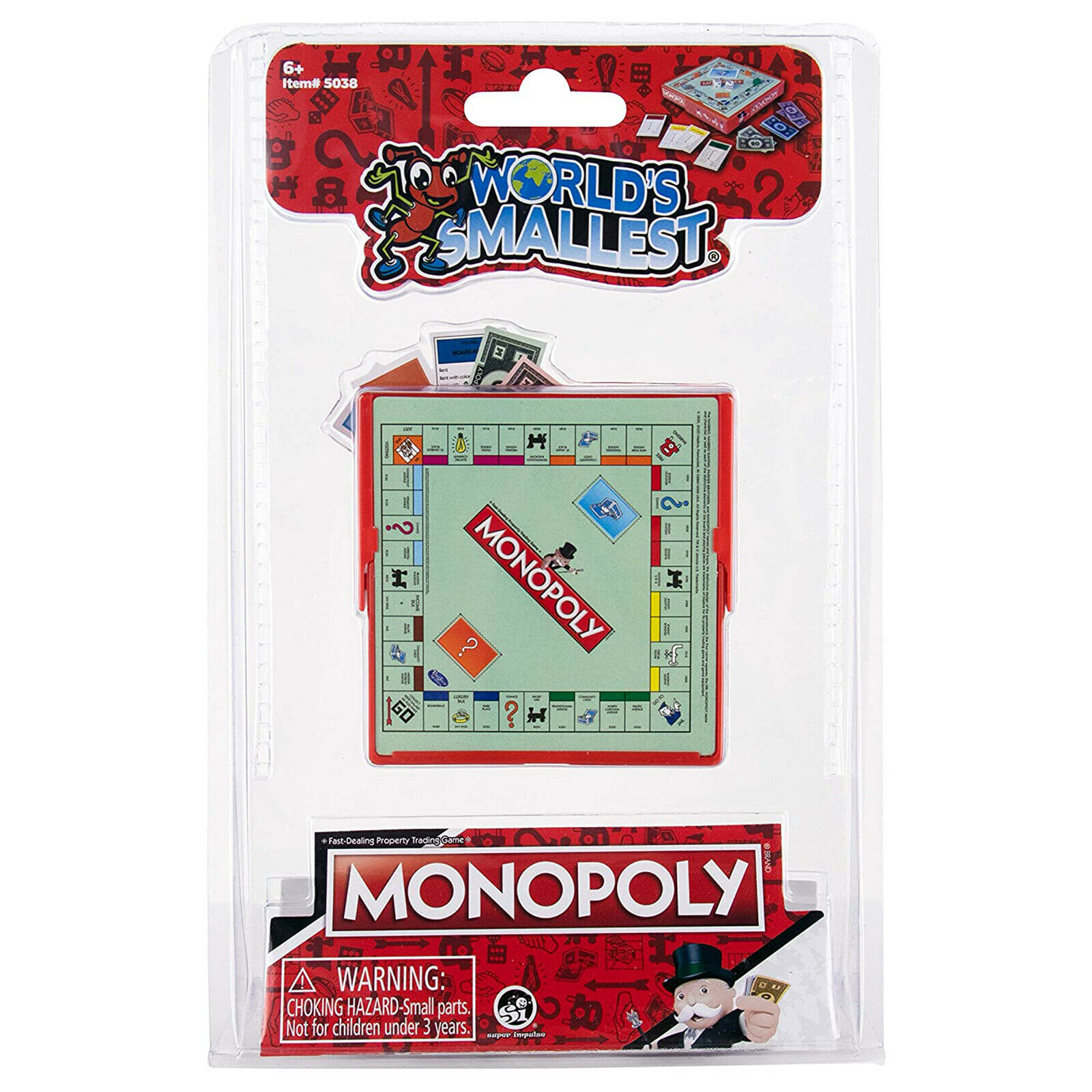 World's Smallest Monopoly Board Game NEW