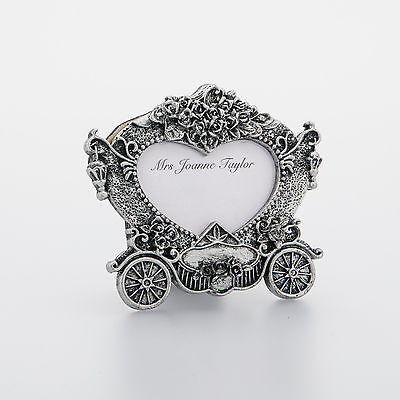 Carriage Vintage Wedding Place Card Holder Frame, 3D Style Picture Decoration