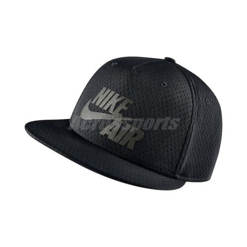 Nike Air Pivot True Black Grey Mens Snapback Hat Cap Hip