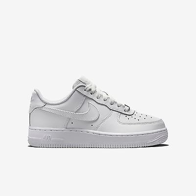 New Nike Youth Air Force 1 Low Gs Kids Shoes  314192 117   White White