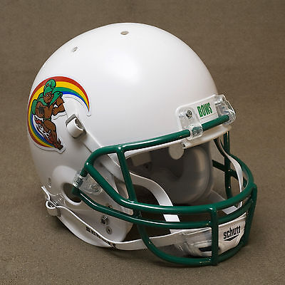 (HAWAII WARRIORS 1977-1981 Authentic GAMEDAY Football Helmet HAWAI'I RAINBOWS)