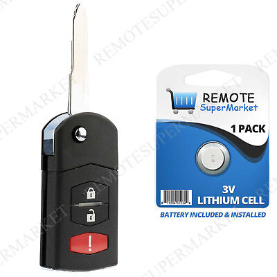 Replacement for Mazda 05-08 6 Hatchback 05-07 6 Wagon Keyless Remote Key Fob