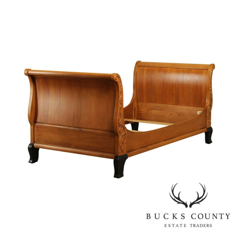 """Ethan Allen """"Legacy"""" French Regency Style Twin Sleigh Bed"""