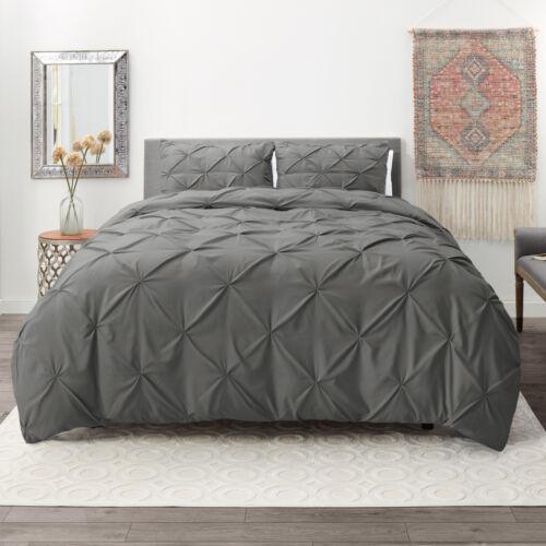 pinch pleated duvet cover set luxurious premium