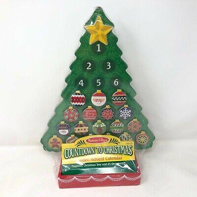 NIP Melissa & Doug Wooden Advent Calendar Countdown to Christmas Magnetic 25