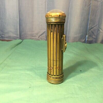 EVEREADY ANTIQUE VINTAGE BRASS CASE FLASHLIGHT WORKS - NO 2604 950 1198 USA MADE
