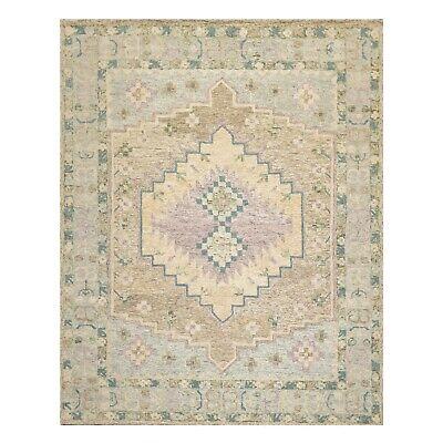8' x 10' Handmade 100% Wool Traditional Oriental Area rug 8x10 Beige Traditional Patio Rug