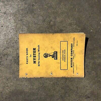 Hyster Winch Parts Catalog Manual D7n Cat Dozer