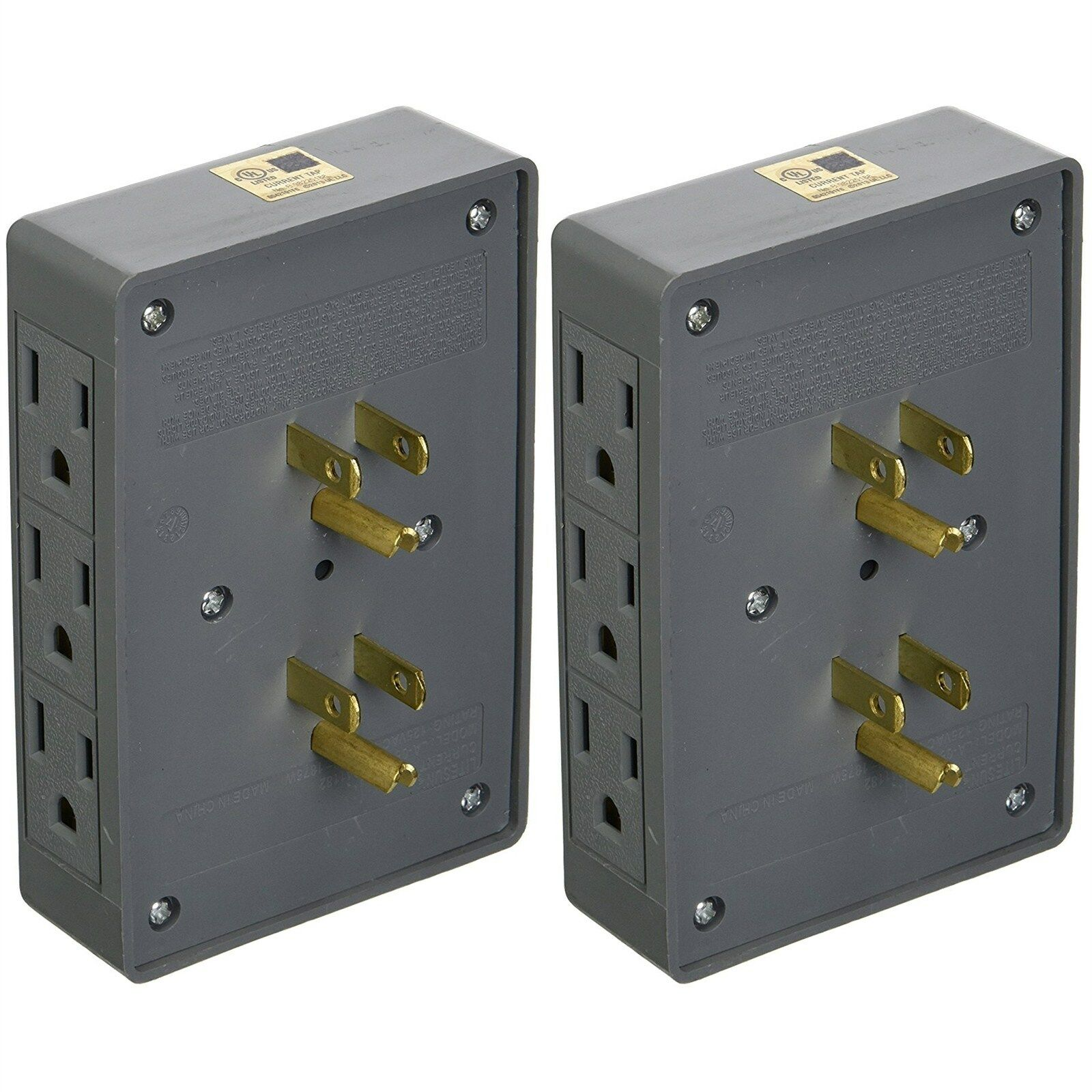 IIT 26860 Cord Protector 6 Outlet Wall Tap Splitter - Side E