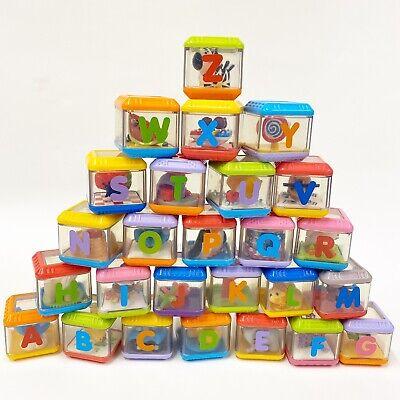 Fisher Price PEEK-A-BLOCKS ALPHABET Peek a Boo Blocks Complete Set Letters A - Z